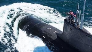 """BangeFrage für die Navy: Können Boote wie die """"USS John Warner"""" in Zukunft aus dem All aufgespürt werden?"""