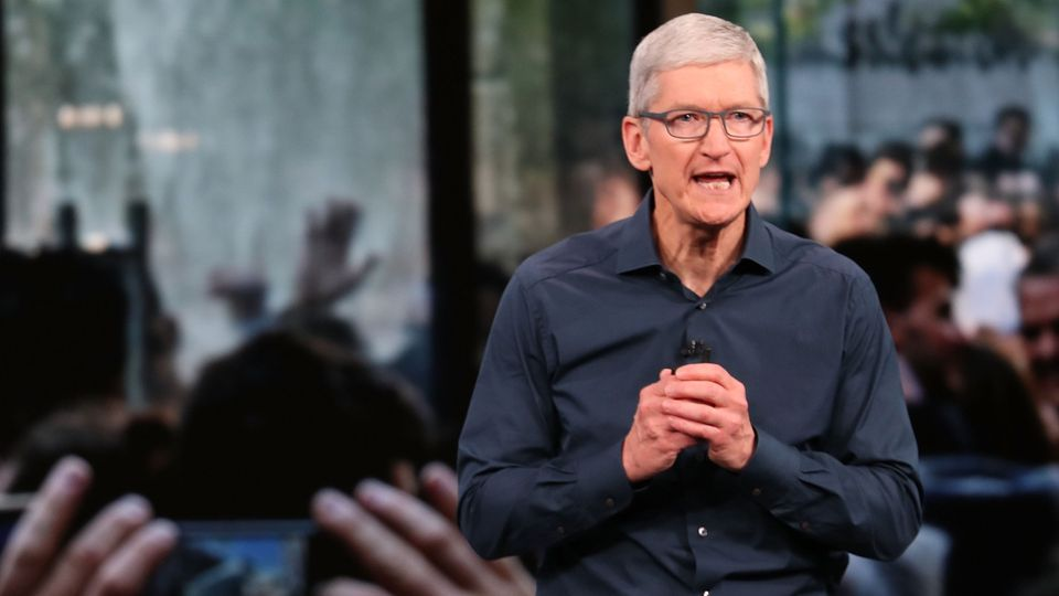 Apple-Chef Tim Cook bei der diesjährigen September-Keynote. In diesem Rahmen zeigte er das neue iPhone und die Apple Watch Series 4.