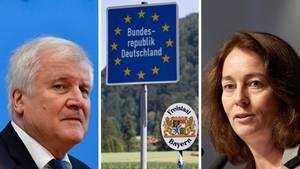 Grenzkontrollen: Bundesinnenminister Horst Seehofer (CSU) und Bundesjustizministerin Katarina Barley (SPD)