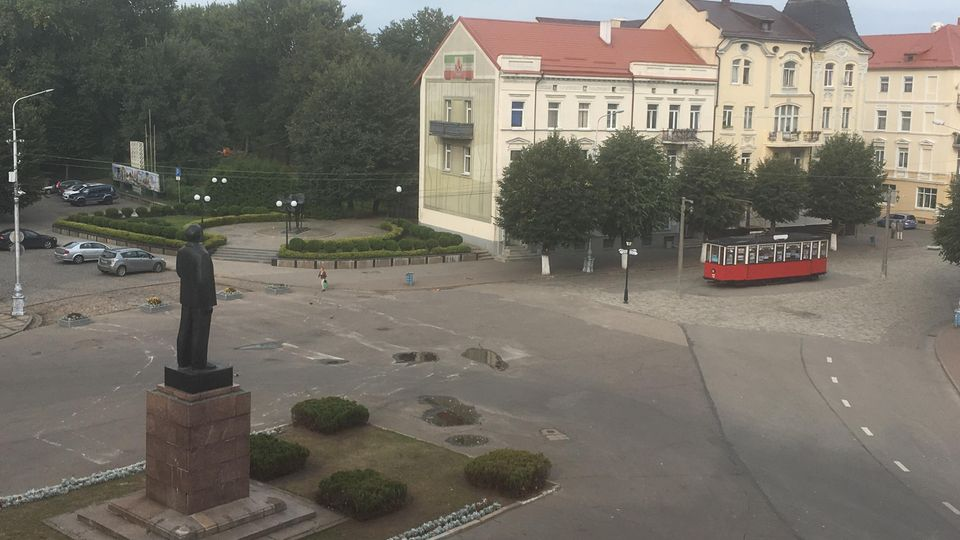 Der zentrale Platz in Sowetsk, dem ehemaligen Tilsit