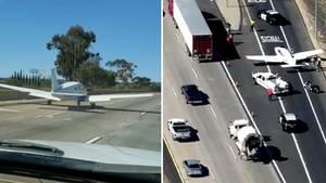 25-jährigem Piloten gelingt eine Notlandung auf einer stark befahrenen Autobahn