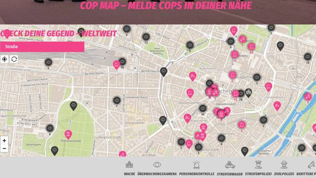 "Screenshot ""Cop Map"""