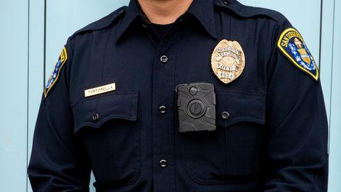 New Yorker Polizist mit Bodycam