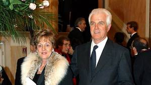 Gilberto Benetton mit seiner Frau 2003 in Venedig