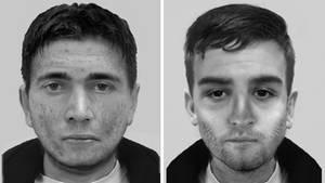 Phantombilder der beiden von der Krefelder Polizei gesuchten ;Männer