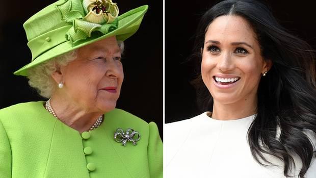 Die Queen und Herzogin Meghan bei ihrem gemeinsamen Auftritt in Cheshire