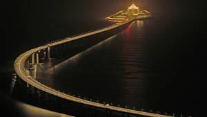 Blick auf die Hongkong-Zhuhai-Macau-Brück