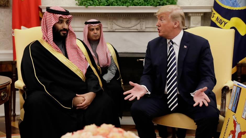 Den saudischeKronprinzMohammed bin Salman war im März zu Gast bei Donald Trump