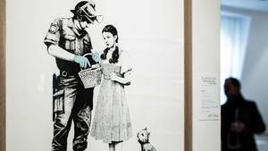Banksy-Bild in Paris