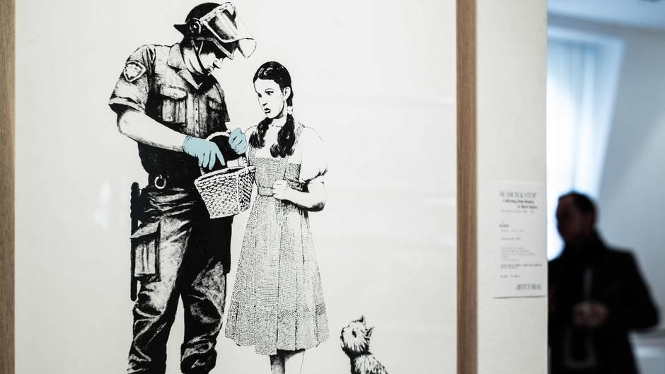 Banksy-Bild in Paris