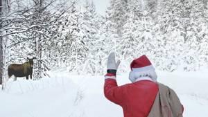 Weihnachtsmann im finnischen Lappland