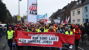 Demo pro RWE in Bergheim