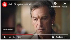 Die neue Sparkassen-Werbung zum Thema Altersvorsorge spielt mit Klischees.