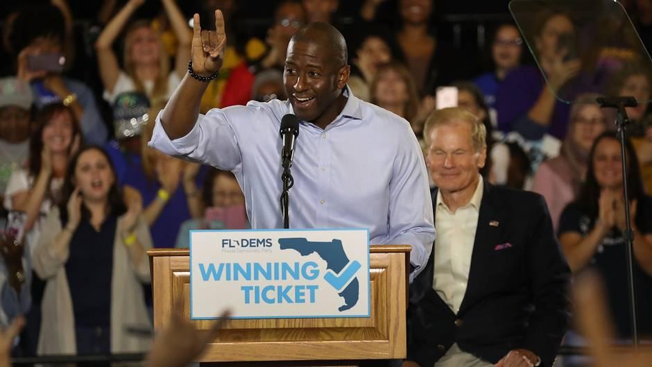 Andrew Gillum bei einer Wahlveranstaltung