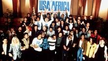 """Michael Jackson & Co. bei den Aufnahmen zu """"We Are The World"""""""