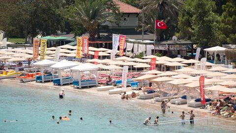 Badestrand in Kemer, Türkei