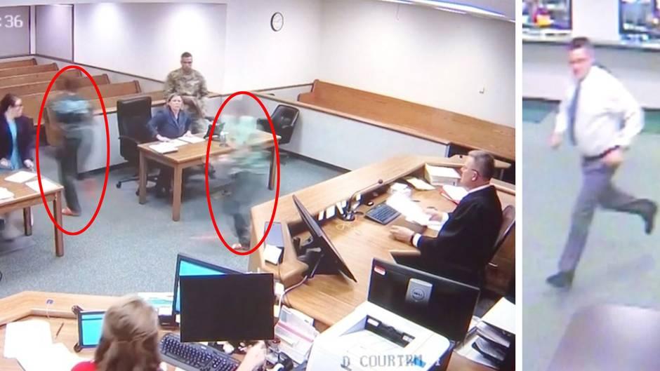 Während der Verhandlung: Angeklagte fliehen aus Gerichtssaal, doch dann nimmt der Richter selbst die Verfolgung auf