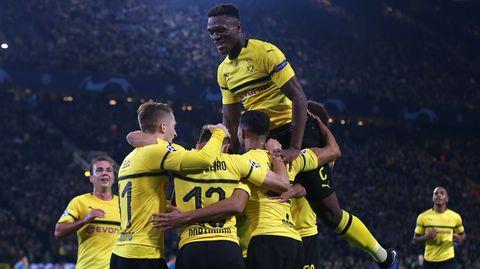 Der BVB hatte nach dem 4:0 über Atlético in der Champions League allen Grund zum Feiern