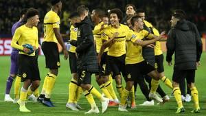 Der BVB fertigte Atletico ab und die Spielern feiern sich