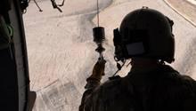 Ein US-Soldat während einer Trainingsmission zu Luft in Afghanistan