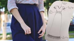 Frau wünscht sich Kleid mit Haaren