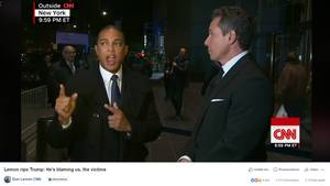 CNN-Moderator Don Lemon (l.) und sein Kollege Chris Cuomo