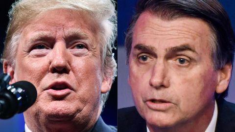 Scharfmacher mit Worten: Donald Trump und Jair Bolsonaro