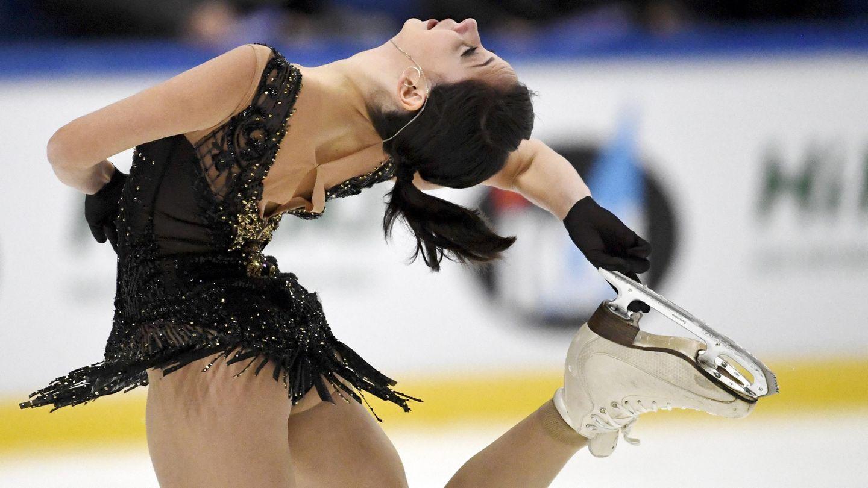 Eiskunstlauf: Jelisaweta Tuktamyschewa bei ihrer Kür bei demfinnischen Espoo Finlandia Trophy Wettbewerb 2018