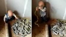 Kleinkind mit Schlange
