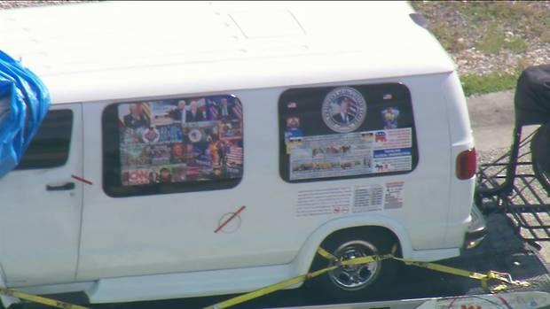 Der Van des mutmaßlichen Briefbombers