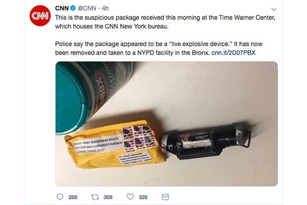 Briefbombe an CNN