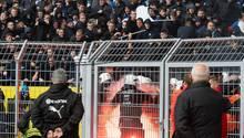 Ausschreitungen von Hertha-Fans im BVB-Stadion