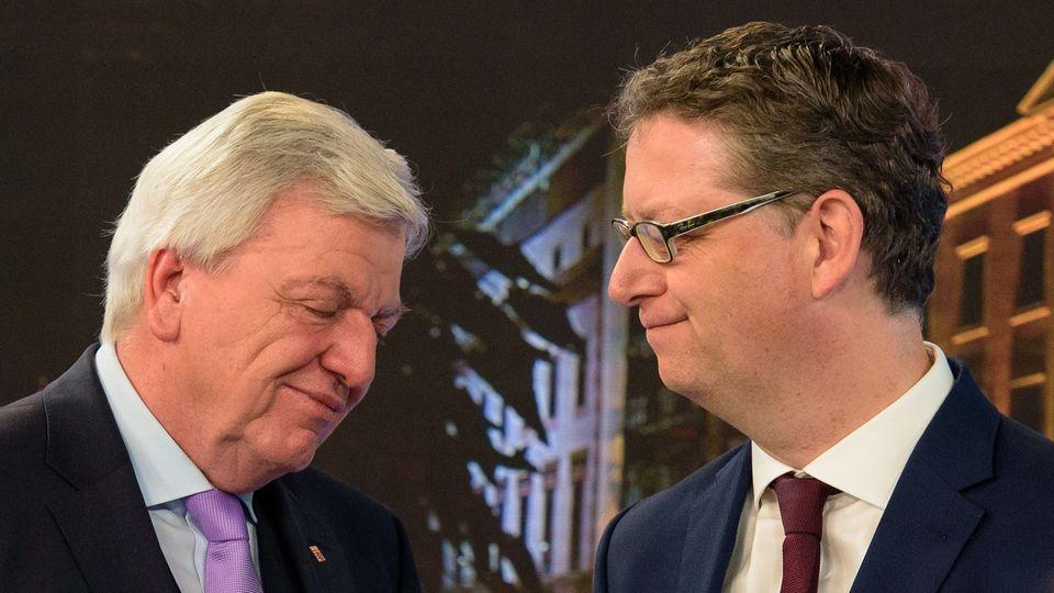Hessen-Wahl: Volker Bouffier und Torsten Schäfer-Gümbel