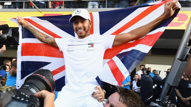 Lewis Hamilton feiert seinen fünften Weltmeister-Titel