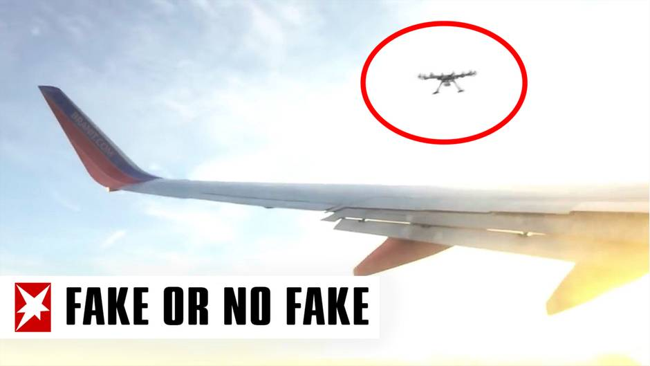 """""""Fake or No Fake"""": Video zeigt: Drohne trifft abhebendes Flugzeug - doch ein Detail stimmt hier nicht"""