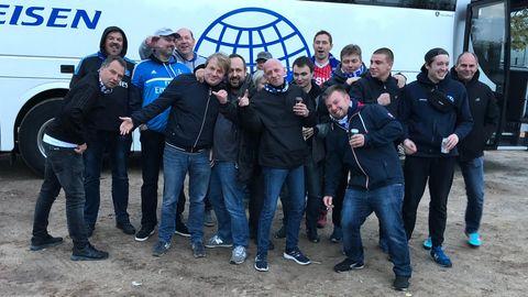 HSV-Fans auf der Auswärtsfahrt nach Magdeburg