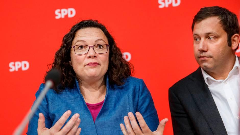 SPD-Chefin Andrea Nahles und Generalsekretär Lars Klingbeil