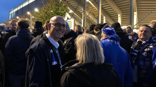 HSV-FanMichael Richter auf dem Weg ins Stadion