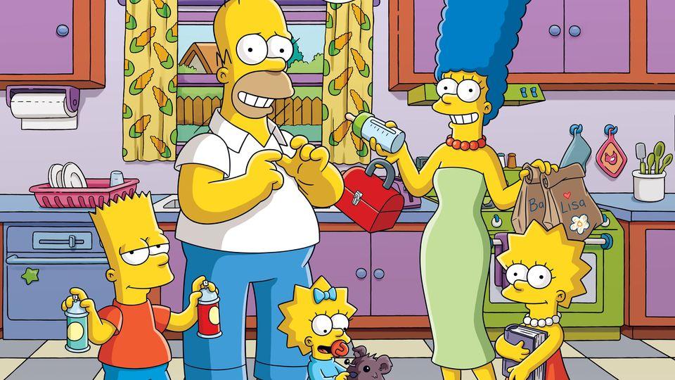 Simpsons auf dem Sofa