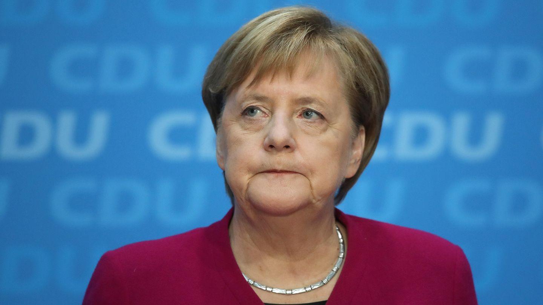 Angela Merkel bei einer Pressekonferenz