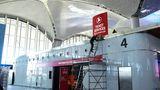 Auch innerhalb desTerminals wird noch gebaut.Erst Ende Dezember werden die Flugzeuge und Flughafenfahrzeuge innerhalb von 45 Stunden vom Atatürk-Flughafen zum neuen Airport verlegt.
