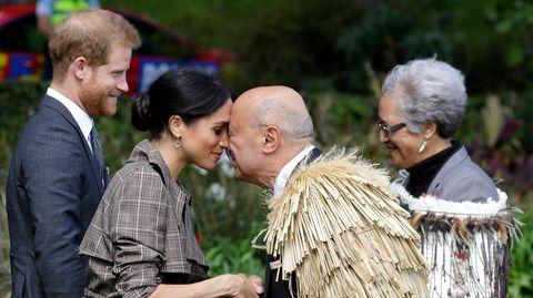 Prinz Harry und Meghan: Maori-Gruß in Neuseeland