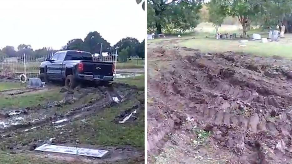 Texas: Truckfahrer verwüstet Friedhof – der Grund dafür macht mehr als stutzig