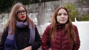 Linda (20)und Karolina (21) in Bielefeld.