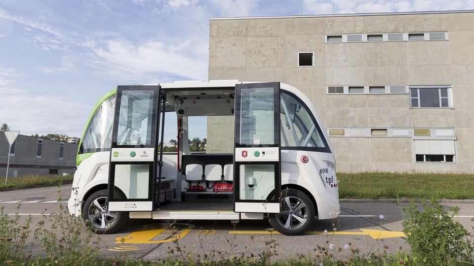 Ein selbstfahrender Bus