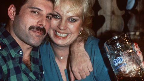 Freddie Mercury und Barbara Valentin