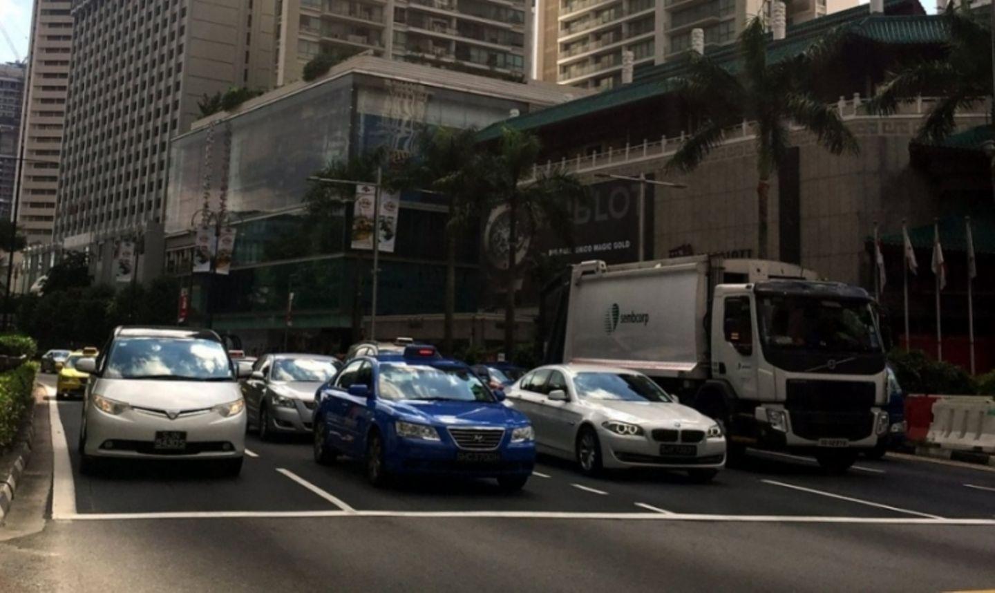 Auf den Straßen von Singapur