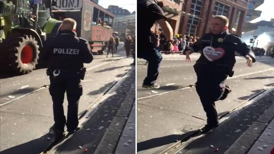 """""""Bremer Freimarkt"""": Polizist rockt Volksfest mit unglaublicher Tanzeinlage"""