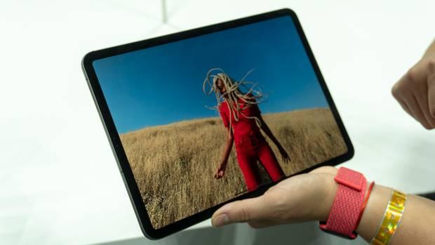 Das neue iPad Pro besteht beinahe komplett aus Bildschirm.