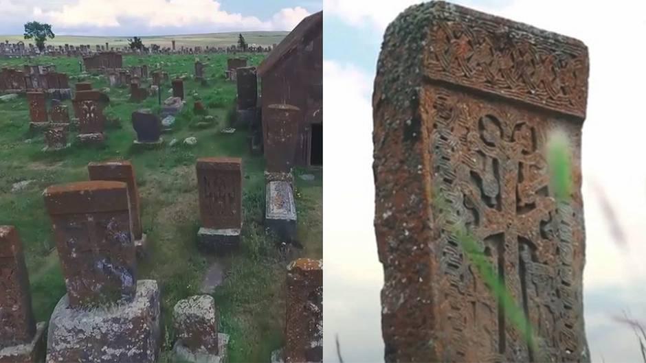 """Fiedhof von Noratus: 1000 Jahre alte Grabsteine – die Geschichte der """"Wächter der Seelen"""""""